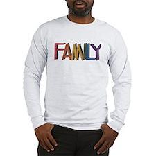 FAMILY RAINBOW STUDDED TEXT Long Sleeve T-Shirt