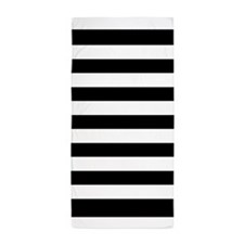 Black And White Stripe Beach Towel