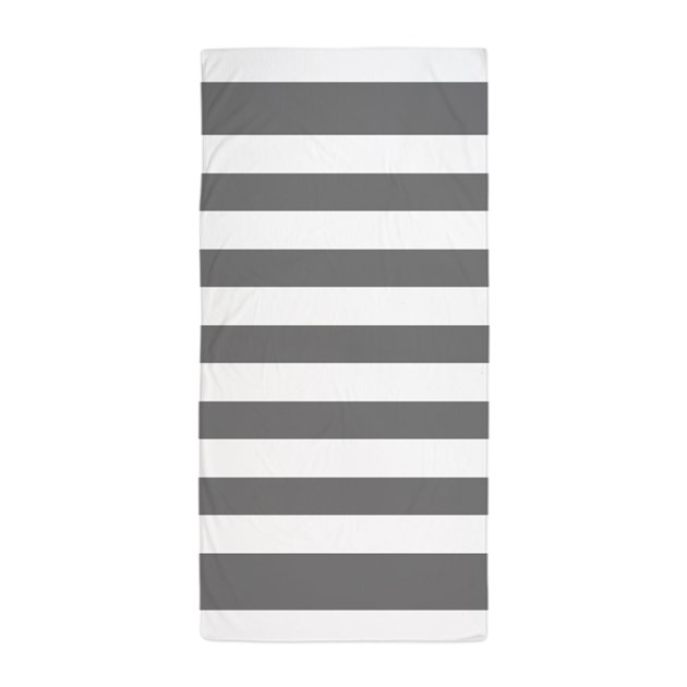 charcoal grey and white stripe beach towel by inspirationzstore. Black Bedroom Furniture Sets. Home Design Ideas
