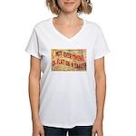 Flat N Dakota Women's V-Neck T-Shirt