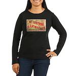 Flat N Dakota Women's Long Sleeve Dark T-Shirt