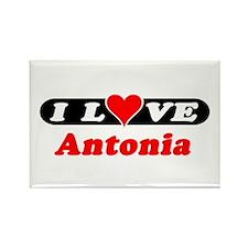 I Love Antonia Rectangle Magnet