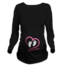 Cute Peek boo Long Sleeve Maternity T-Shirt