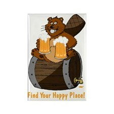 Happy Beaver Brewery Rectangle Magnet