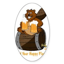 Happy Beaver Brewery Decal