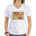 Flat Wyoming Women's V-Neck T-Shirt