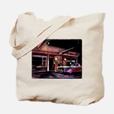 1950s Gas Station Scene Tote Bag