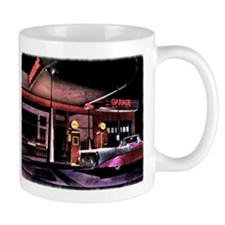 1950s Gas Station Scene Mugs
