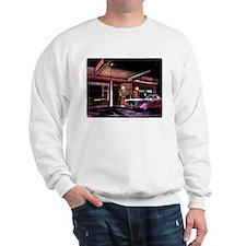 1950s Gas Station Scene Sweatshirt