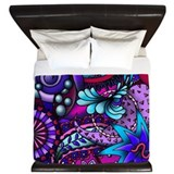 Blue and purple King Duvet Covers