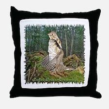 Drumming grouse Throw Pillow