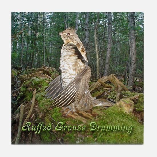 Drumming grouse Tile Coaster