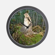 Drumming grouse Wall Clock