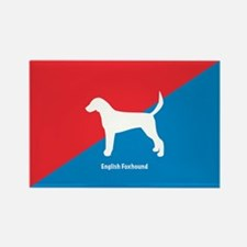 Foxhound Rectangle Magnet (10 pack)
