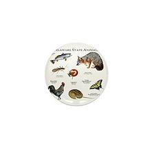 Delaware State Animals Mini Button