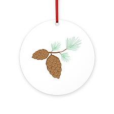 Pine Cone Round Ornament