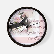 Quiet and Gentle spirit Wall Clock