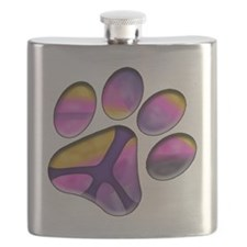 Peaceful Paws Giant Dog Rescue Service - Paw Flask