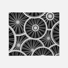 Bicycle Wheels Pattern - Sports Back Throw Blanket