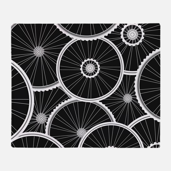 Bicycle Wheels Pattern - Sports Back Throw Blanket