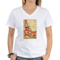 Flat Idaho Women's V-Neck T-Shirt