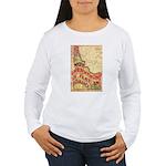 Flat Idaho Women's Long Sleeve T-Shirt