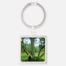 TreeTileSF Square Keychain