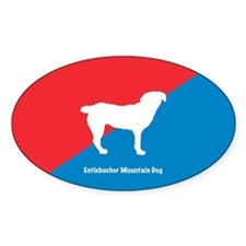 Entlebucher Oval Decal