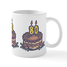 80th Birthday Small Mugs