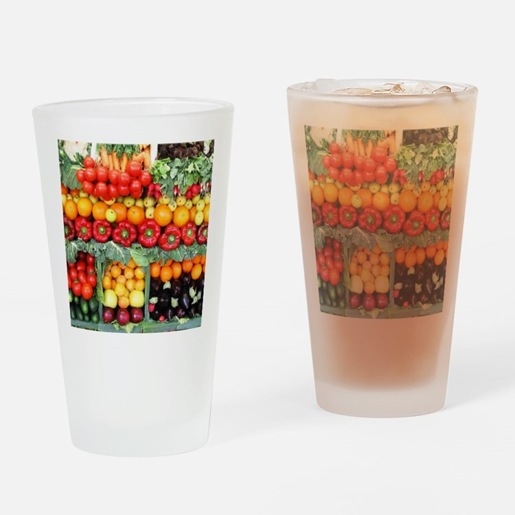fruits and veggies Drinking Glass