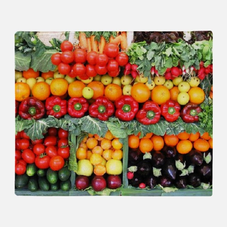 fruits and veggies Throw Blanket