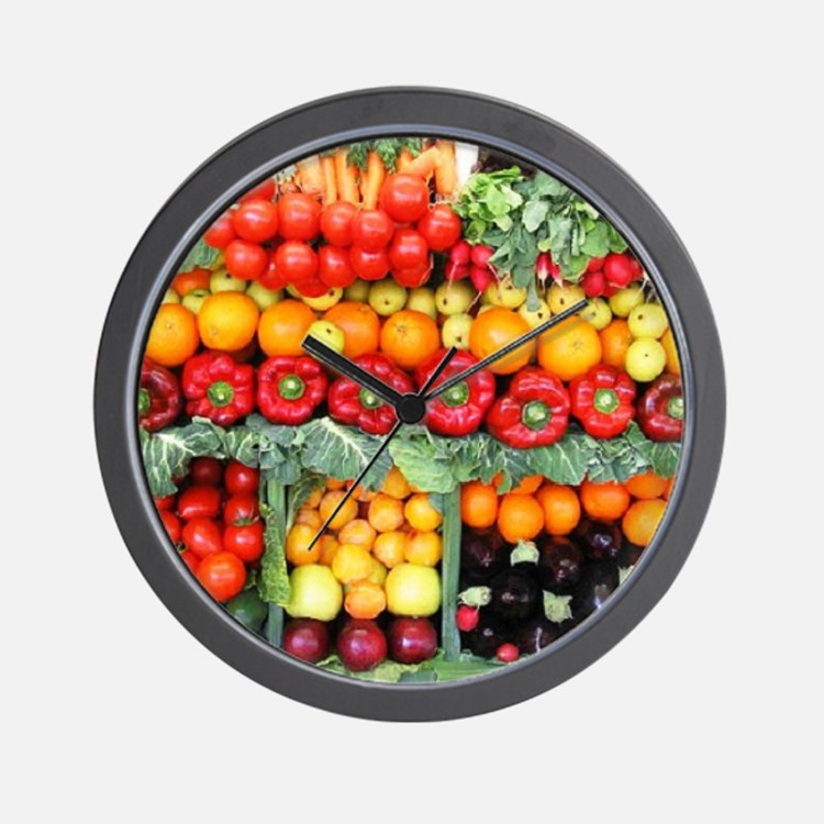 fruits and veggies Wall Clock