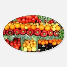 fruits and veggies Sticker (Oval)