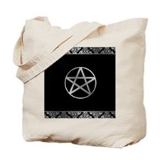 Silver Pentacle Tote Bag