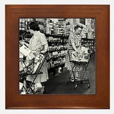 1930s grocery store Framed Tile