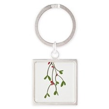 What Happens Under The Mistletoe.. Square Keychain