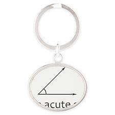 Im acute girl Oval Keychain