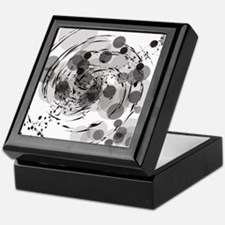 Black and white circles Keepsake Box