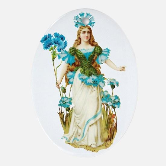 Vintage Fairy 03 Oval Ornament