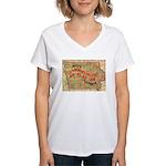 Flat Iowa Women's V-Neck T-Shirt