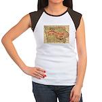 Flat Iowa Women's Cap Sleeve T-Shirt