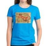 Flat Iowa Women's Dark T-Shirt
