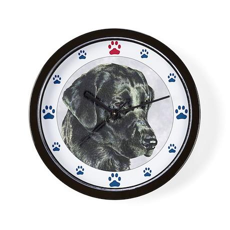 Labrador Retriever Dog Paw Wall Clock