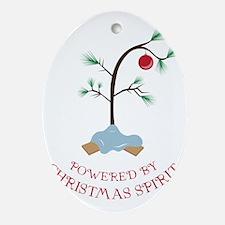 Christmas Spirit Oval Ornament