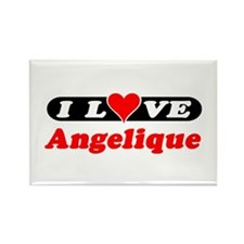 I Love Angelique Rectangle Magnet