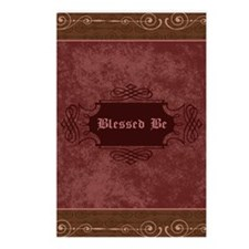 Blessed Be Vintage (Red) Postcards (Package of 8)