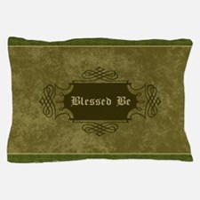 Blessed Be Vintage (Green) Pillow Case