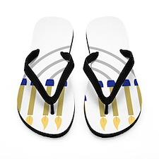 Menorah Flip Flops