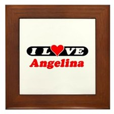 I Love Angelina Framed Tile