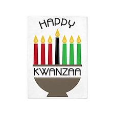 Happy Kwanzaa 5'x7'Area Rug